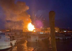 Incêndio provoca explosões, desespero e solidariedade