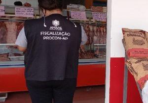Procon notifica 21 açougues por preços abusivos da carne
