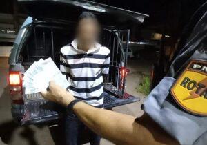 Sorveteiro é preso com dinheiro falso