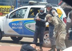 Sem tiros ou ameaça, baleado pela PM é resgatado do HE