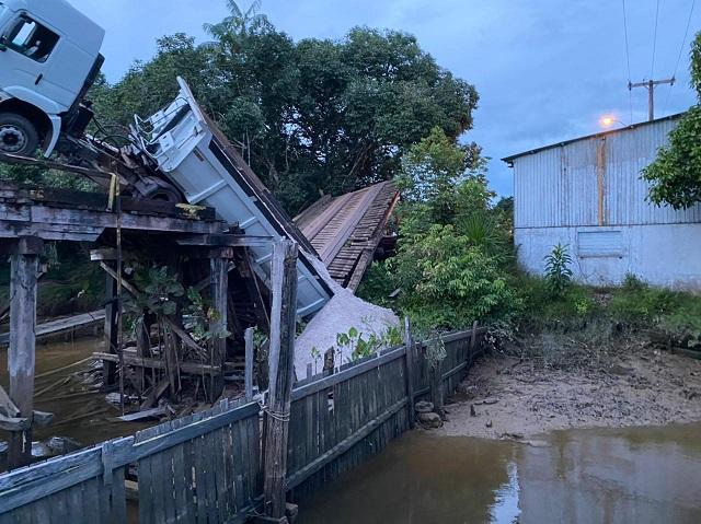 Para reforma, ponte danificada por carreta será interditada outra vez