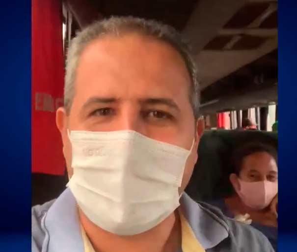 Prefeito viaja 230 km em ônibus com pacientes do programa Mais Visão
