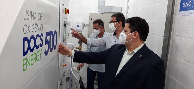 Usina de oxigênio é acionada em Macapá; Santana será a próxima cidade
