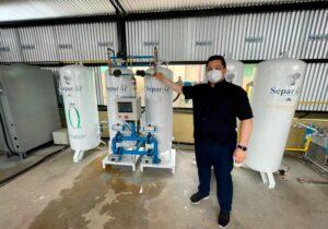 'Retaguarda gigante', diz Davi ao acionar a 3ª usina de oxigênio do Amapá