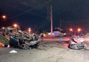Grave acidente deixa cinco feridos