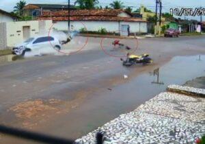 Matagal encobre placa e câmera flagra 2 acidentes em menos de 24h