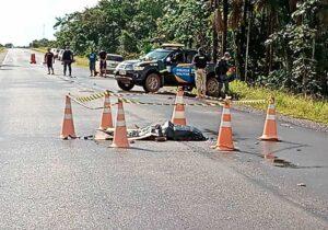 Ciclista morre atropelado na BR-156