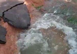 VÍDEO: Vazamento deixa Centro e zona sul sem água nas torneiras