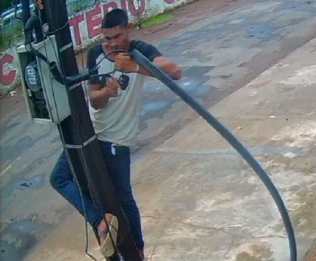 Líder de bando que furta cabos de telecomunicações é procurado
