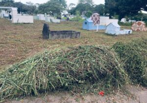 Após denúncia, cemitério começa a ser limpo