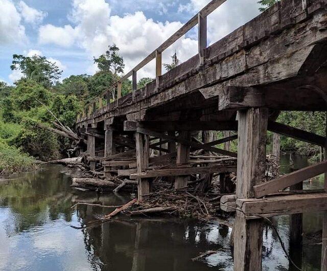 Caminho para abastecer garimpo, ponte do Flamam causa preocupação
