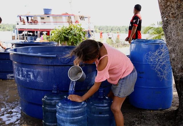 Estado envia mais 100 mil litros de água potável para o Bailique