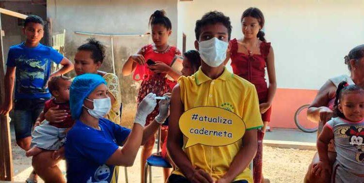 Tartarugalzinho: equipes da prefeitura atualizam vacinação de crianças e adolescentes